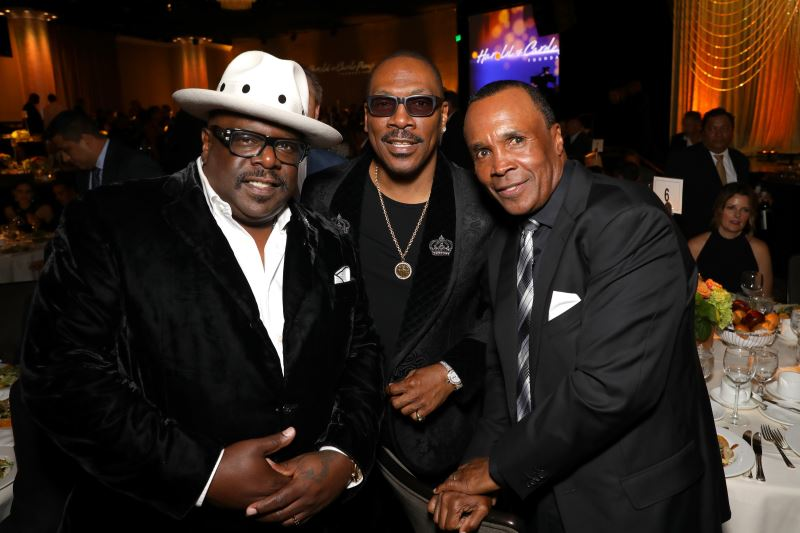 Cedric the Entertainer, Eddie Murphy and Sugar Ray Leonard