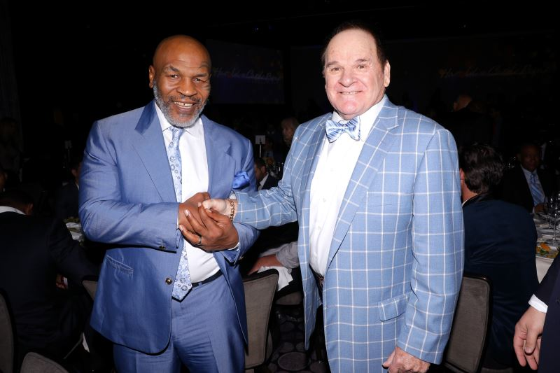 Mike Tyson and Pete Rose
